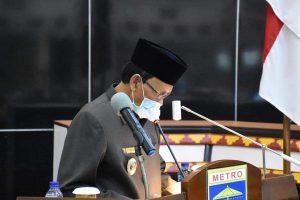 DPRD Kota Metro Mengadakan Sidang Paripurna Bahas APBD Tahun Anggaran 2021