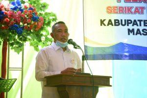Umar Ahmad, SP Bupati Tubaba Menghadiri Plantikan Pengurus SMSI Tubaba
