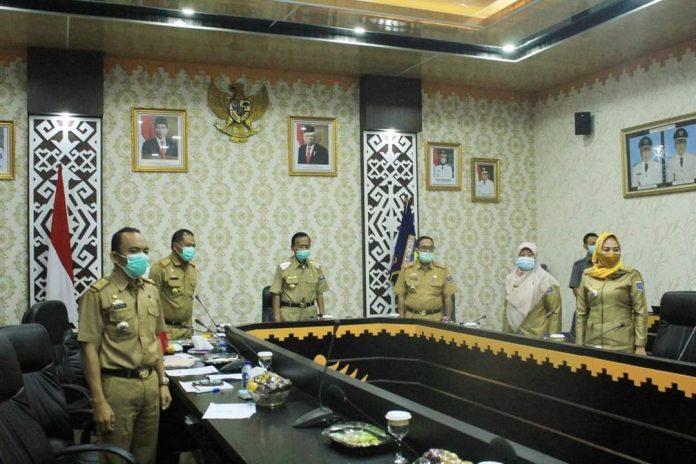 Achmad Pairin Pimpin Rapat Koordinasi Secara Virtual di OR Setda Metro