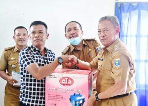 Wakil Walikota Metro Menyerahkan Bantuan GERBANG BSW