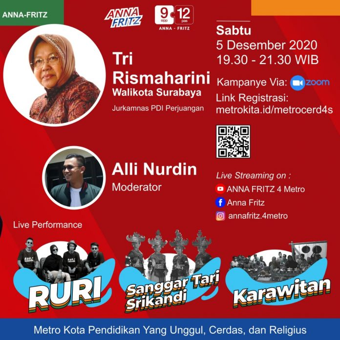 . Tri Rismaharini Dijawalkan Hadiri Kampanye Daring Sesi 9