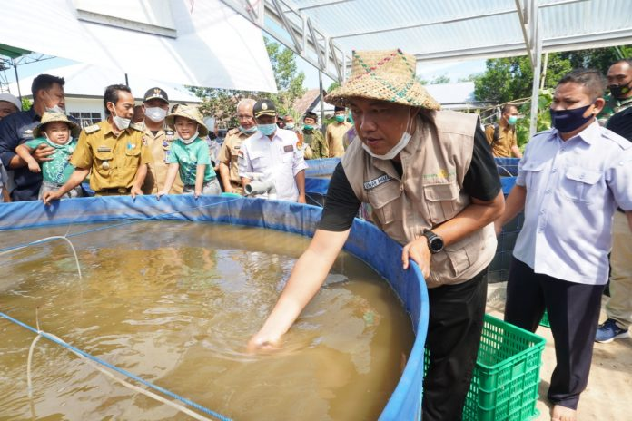 Bupati Tubaba Budidaya Ikan Sistem Bioflock di Pondok Darussholihin Tebu Ireng 12 Pulung Kencana
