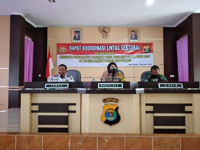Jelang Ops Lilin Krakatau 2020, Polres Tanggamus Gelar Rapat Lintas Sektoral