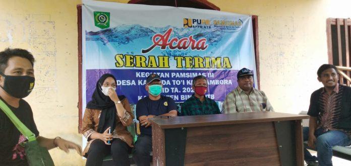 Desa Kawinda To'i, Kecamatan Tambora Kabupaten Bima, Serah Terima Bantuan Pamsimas Dari Dinas Perkim