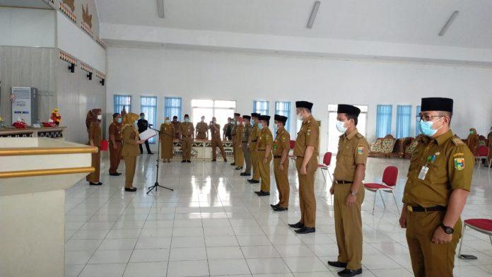 Bupati Lantik 9 Pejabat Pimpinan Tinggi Pratama Pemkab Tanggamus
