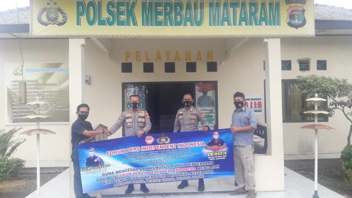 Forum Pers Independent Indonesia Sebar Banner Ajakan Patuhi Prokes*