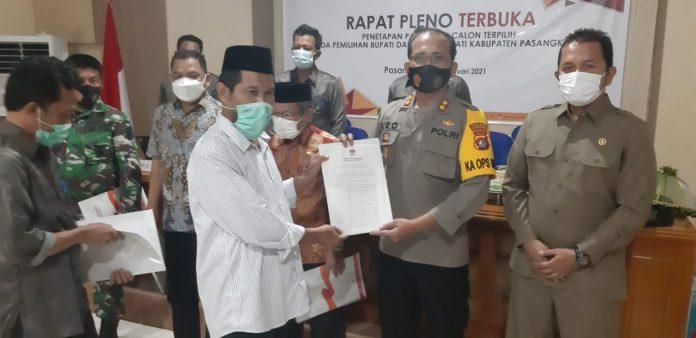 Kapolres Pasangkayu Hadiri Rapat Pleno Terbuka Penetapan Paslon Terpilih Bupati & Wakil Bupati Pasangkayu tahun 2020.