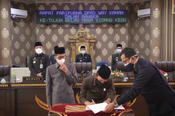 DPRD Way Kanan Menggelar Rapat Paripurna Penetapan Bupati dan Wakil Bupati Terpilih