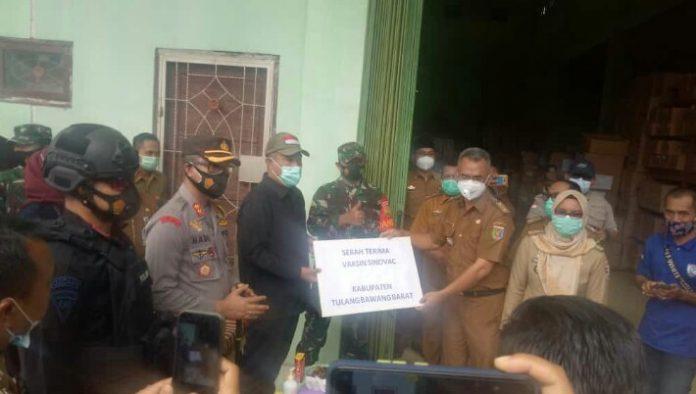 Pemerintah Tubaba Telah Terima Vaksin Sinovac Sebanyak 2120 Dari Dinas Kesehatan Provinsi Lampung