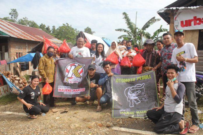 Peduli Kemanusiaan, Persatuan Otomotif Makassar Salurkan Bantuan Di Sulbar