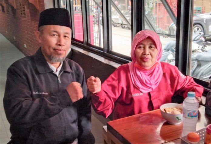 Saling Mendukung Jadi Ketua PWI Sulsel, Asnawin dan Nurhayana