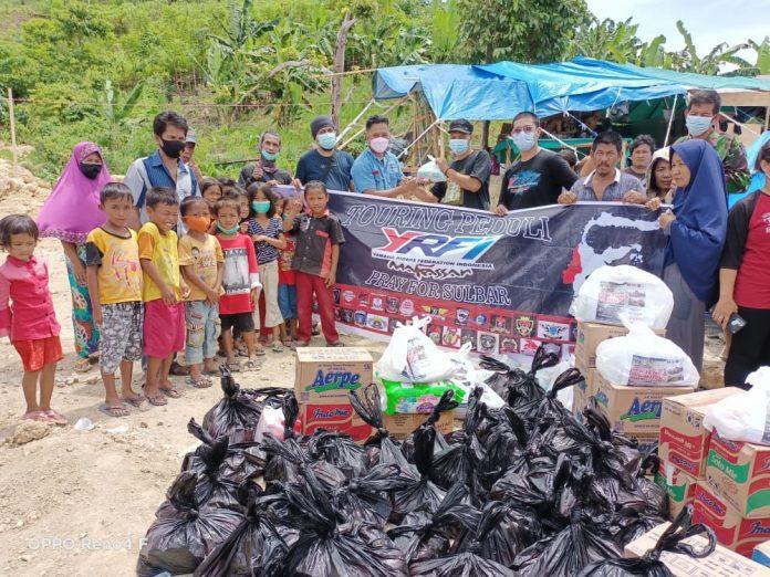 YRFI Kota Makassar Salurkan Lansung Bantuan Ke Korban Gempa Sulbar
