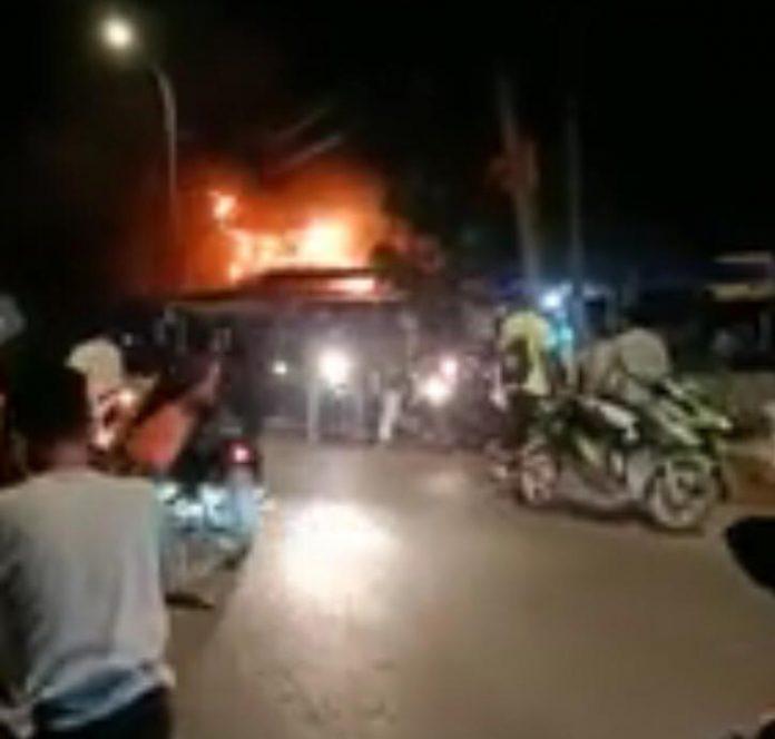 Kebakaran di Sagulung Kota Puri Brata Batam