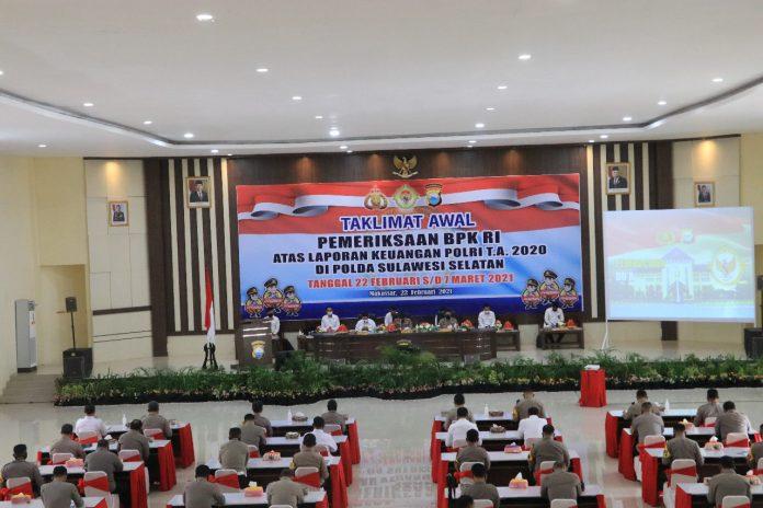 Tim Wasrik BPK RI Kunjungi Polda Sulawesi Selatan