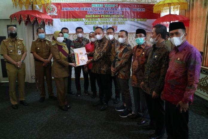 Pemkab Tanggamus Terima Kunjungan Reses Anggota DPRD Provinsi Lampung