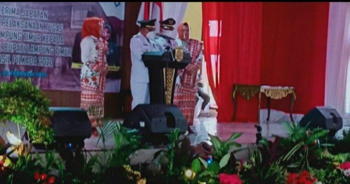 Dawam dan Hi. Azwar Hadi Resmi Menerima Estafet Kepemimpinan Lampung Timur