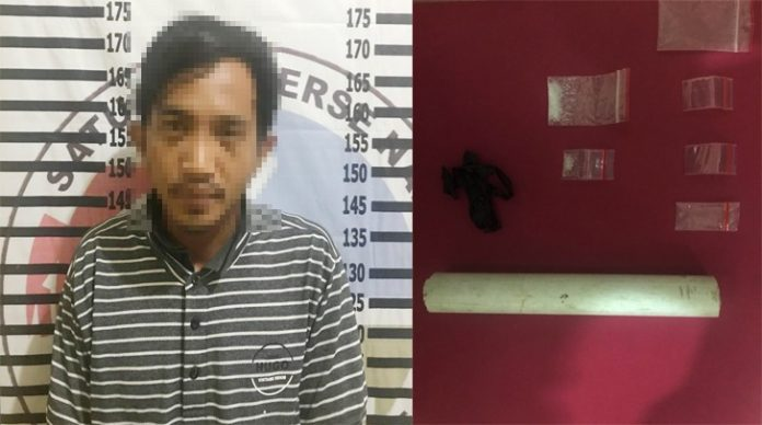 Polisi Gerebek Rumah di Perum Bhayangkara Kampung Warga Makmur Jaya