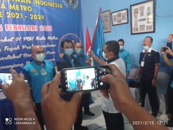 Rino Panduwinata, S, kom Nahkodai PWI Metro Lampung