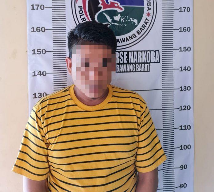 Seorang Pria Diduga Bandar Narkoba Berhasil Diringkus Satres Narkoba Polres Tubaba