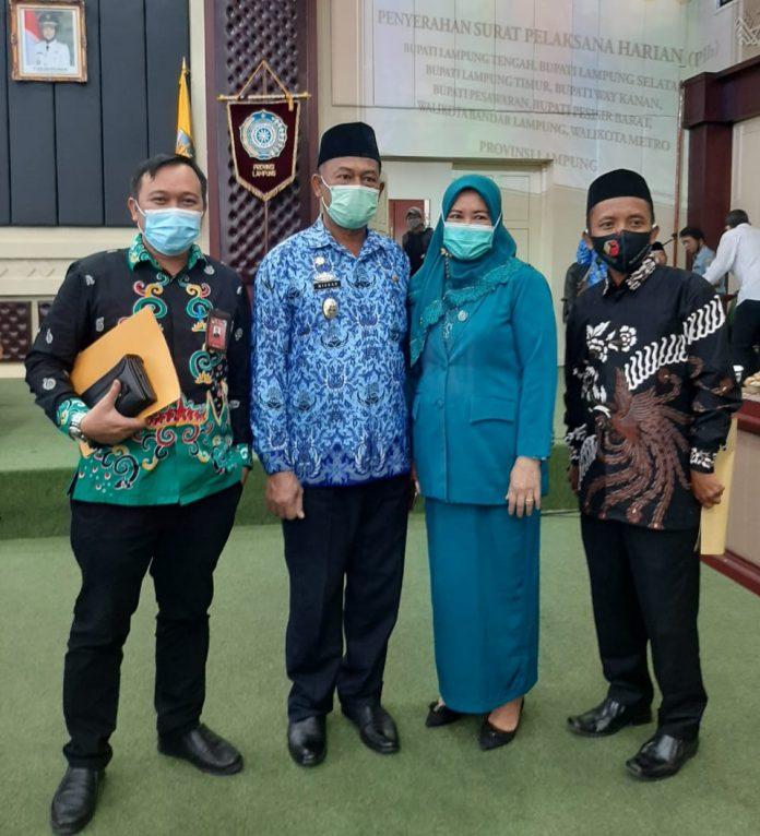 Misnan Pimpin Plh Walikota Metro setelah dirinya dilantik Wakil Gubernur Lampung