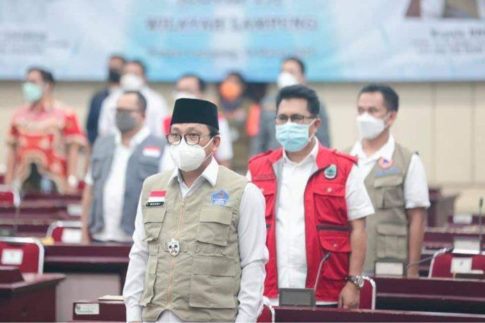 Walikota Metro Rapat Koordinasi Penanganan Covid-19 di Wilayah Lampung