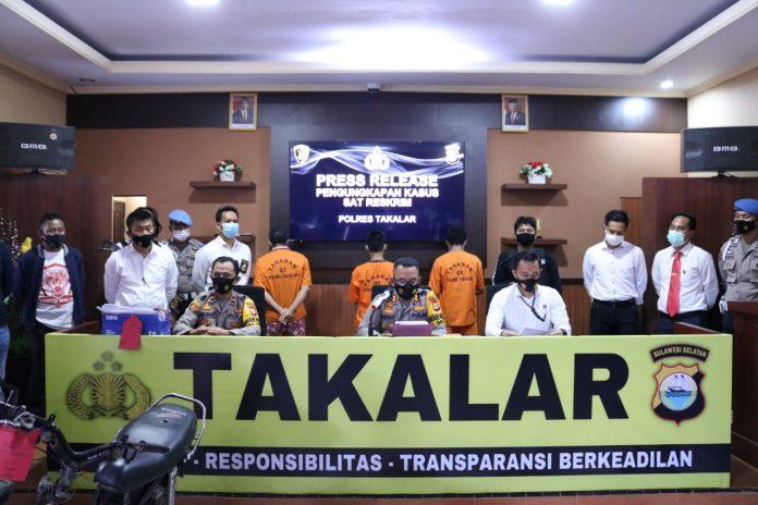 Kapolres Takalar Release Pengungkapan Kasus Pencurian Sepeda Motor di Warkop75