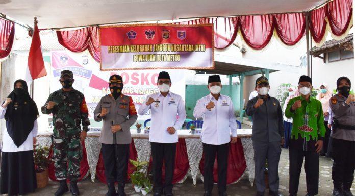 Walikota Metro dan Wakil Walikota Menghadiri Kampung Tangguh Nusantara (KTN)