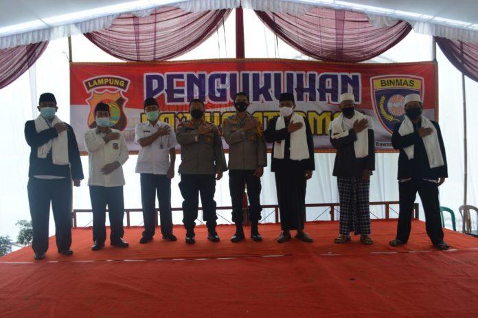 Pengukuhan Da'i Kamtibmas Kabupaten Tulang Bawang, Dir Binmas Polda Lampung Berikut Susunan Pengurusnya