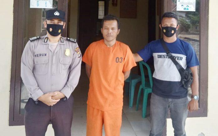 Lakukan KDRT Terhadap Istrinya, Pria 50 Tahun Ditangkap Polsek Gedung Aji
