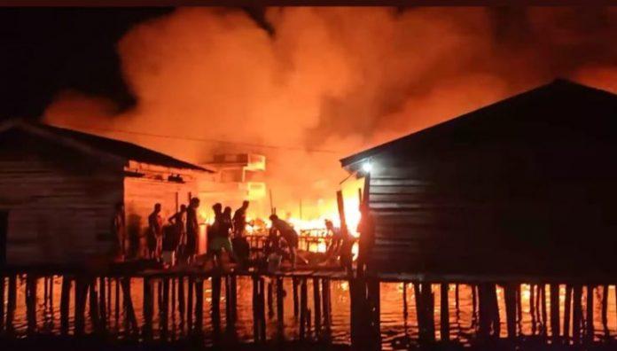 Kebakaran Enam(6) Rumah di Kelurahan Meral