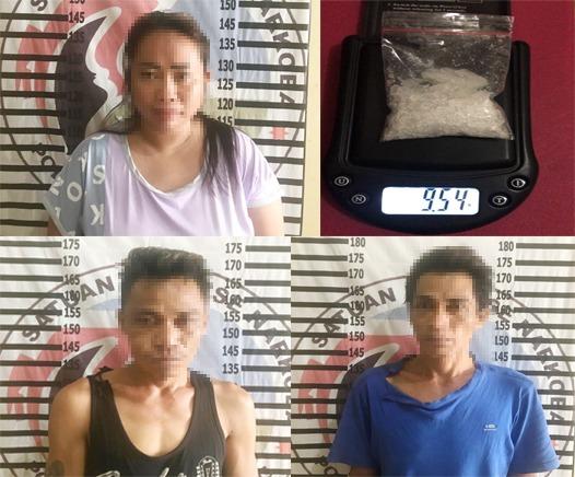 Tiga Bandar Narkotika, Di Tangkap Polisi, AKBP Andy : Narkotika Disita 9,54 Gram