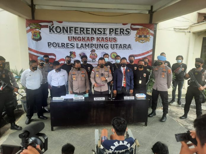 Lagi lagi 308 Polres Lampung Utara Lumpuhkan Tersangka Spesialis Curanmor Lintas Provinsi