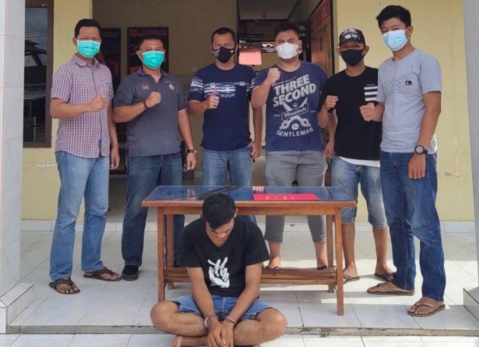 Polsek Penawartama Tangkap Pemuda Yang Membawa Narkotika