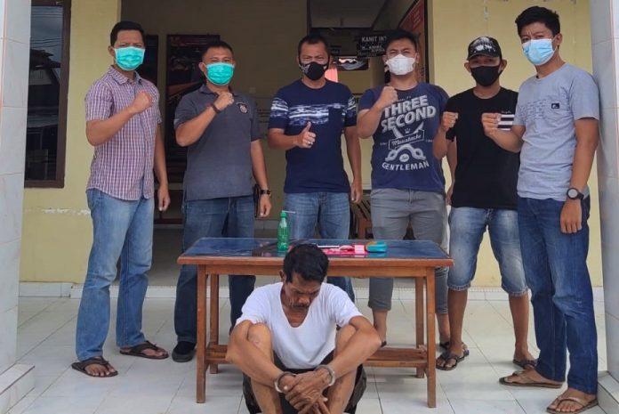 Edarkan Narkotika, Pria 63 Tahun Ditangkap Polsek Penawartama