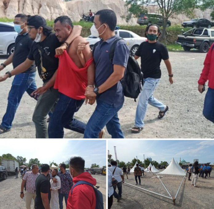 Polresta Barelang Membongkar Paksa Lokasi Kegiatan di Welcome To Batam