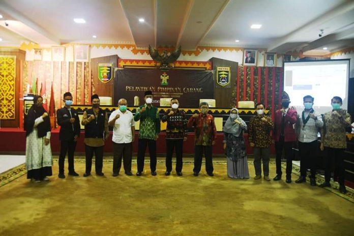 Qomaru Zaman Menghadiri Pelantikan Dewan Pimpinan Daerah (DPD), Pimpinan Cabang Ikatan Mahasiswa Muhammadiyah Kota Metro