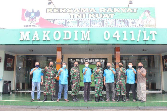 PWI) Kota Metro bersama Komando Distrik Militer (Kodim) 0411/Lampung Tengah (LT) sepakat mensinergikan program kerja