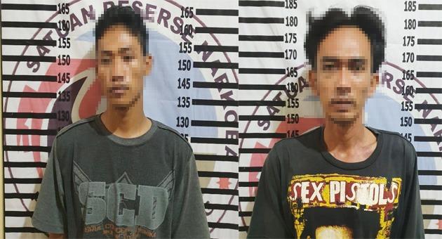 Polsek Rawa Jitu Selatan Tangkap Dua Pengedar Narkotika di Tanah Merah