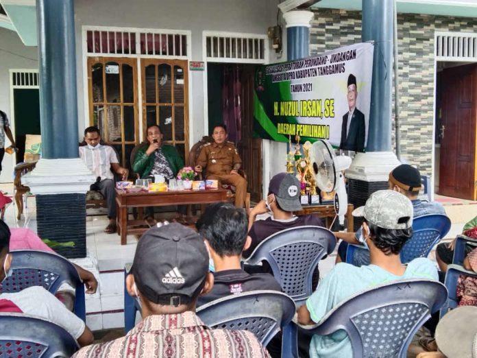 Nujul Irsan SE.Melakukan Sosialisasi Peraturan Perundang-undangan Anggota DPRD Kabupaten Tanggamus Daerah Pemilihan 1