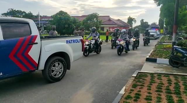 Polres Tulang Bawang Gelar Patroli Skala Besar, Berikut Tujuan dan Rutenya