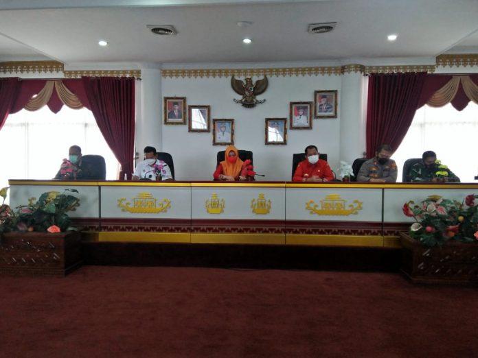 Gugus tugas covid-19 Kabupaten Tanggamus menggelar Rakor