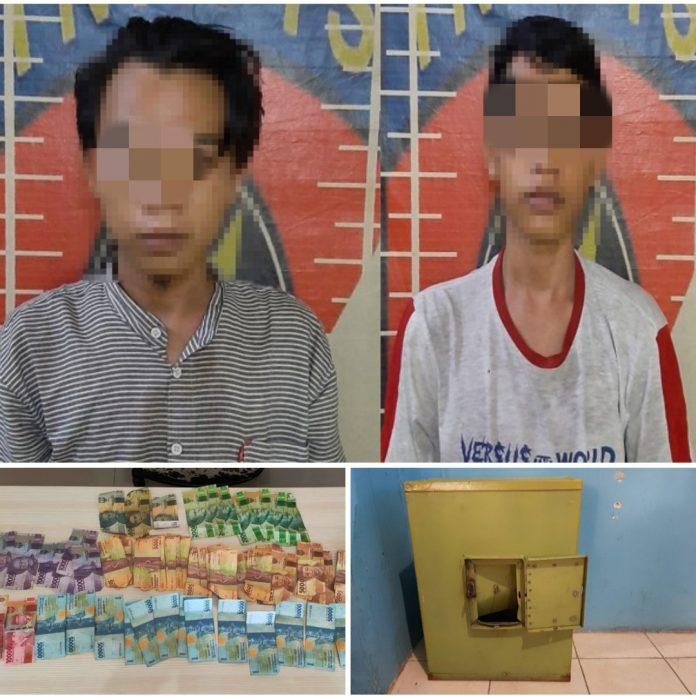 Curi Uang di Kotak Amal Masjid, Dua Pemuda Ditangkap Tekab 308 Polres Tulang Bawang