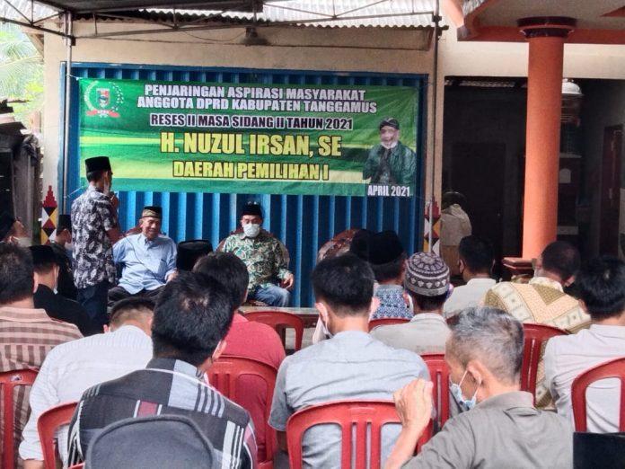 Reses Penjaringan Aspirasi Masyarakat Angota DPRD Kabupaten Tanggamus.Nuzul irsan.SE.
