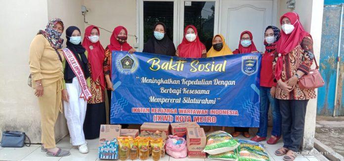 IKWI) Kota Metro menggelar bakti sosial di Lembaga Kesejahteraan Sosial ( LKS)