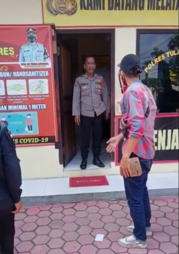 Oknum Anggota Polres Tubaba Diduga Halangi Wartawan Saat Meliputi Proses Penyidikan Tipikor Kepalou Tiyuh Mekarsari Jaya
