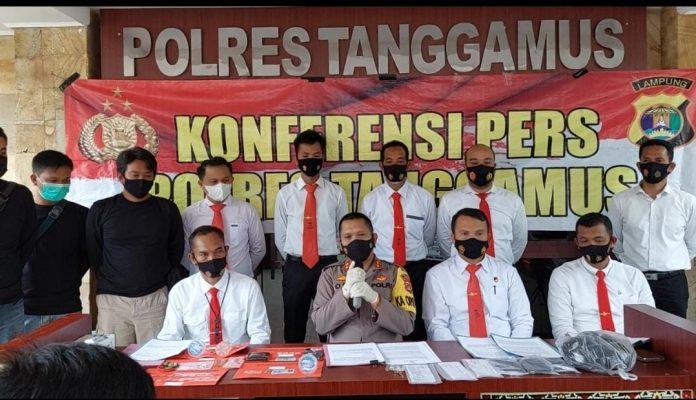 Kepala Pekon Karang Agung dan Anak nya di Tetapkan Tersangka Kerukunan Orgen Semaka Kabupaten Tanggamus