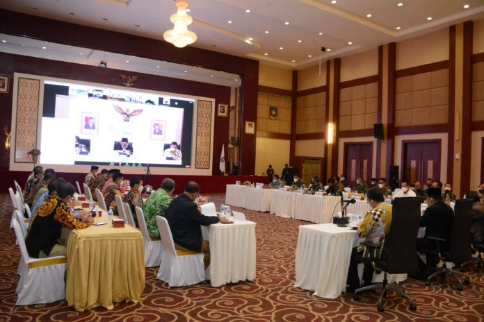 Rapat Kordinasi Percepatan Penanganan COVID-19 di Propinsi Kepri