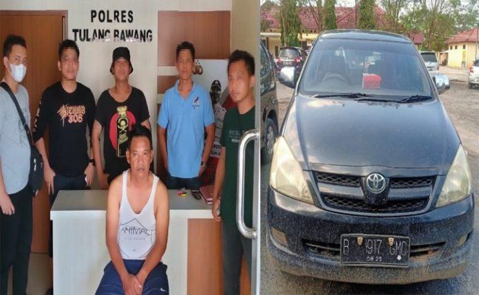 Gelapkan Kendaraan, Pria 50 Tahun Ditangkap Tekab 308 Polres Tulang Bawang