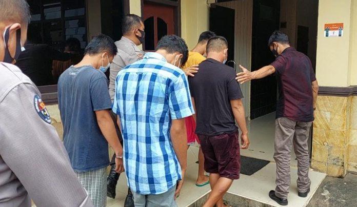 Terkait Video Viral Curas di Pantai Limau, Tekab 308 Polres Tanggamus Tangkap Empat Pelaku