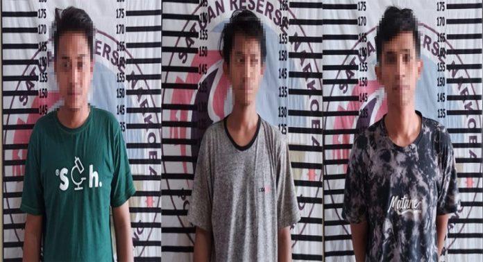 Asyik Pesta Narkotika, Tiga Pemuda Ditangkap Polres Tulang Bawang